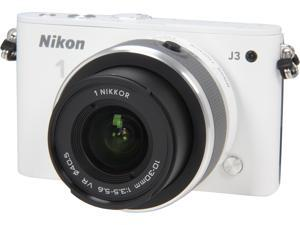Nikon 1 J3 (27638) White Advanced Camera with 10-30mm VR 1 NIKKOR Lens