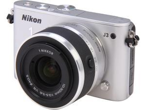 Nikon 1 J3 (27640) Silver Advanced Camera with 10-30mm VR 1 NIKKOR Lens