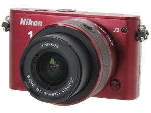 Nikon 1 J3 27639 Red Advanced Camera with 10-30mm VR 1 NIKKOR Lens