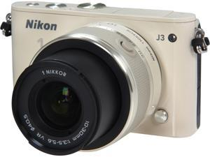 Nikon 1 J3 (27641) Beige Advanced Camera with 10-30mm VR 1 NIKKOR Lens