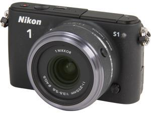 Nikon 1 S1 (27617) Black Mirrorless Digital Camera with 11-27.5mm Lens