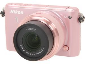 Nikon 1 S1 27620 Pink Mirrorless Digital Camera with 11-27.5mm Lens