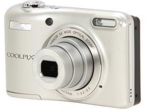 Nikon COOLPIX L28 Silver 20.1 MP Wide Angle Digital Camera