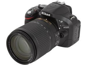 Nikon D5200 (13311) Black Digital SLR w/ 18-140mm VR Lens