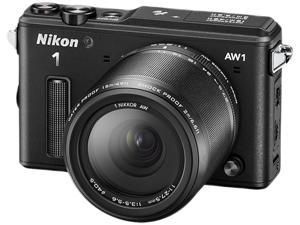 "Nikon 1 AW1 27665 Black 14.2 MP 3.0"" 921K LCD Advanced Camera with 1 NIKKOR AW 11-27.5mm f/3.5-5.6 Lens"