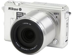 "Nikon 1 AW1 27666 Silver 14.2 MP 3.0"" 921K LCD Advanced Camera with 1 NIKKOR AW 11-27.5mm f/3.5-5.6 Lens"