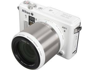 "Nikon 1 AW1 27669 White 14.2 MP 3.0"" 921K LCD Advanced Camera with 1 NIKKOR AW 11-27.5mm f/3.5-5.6 Lens"