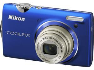 Nikon COOLPIX S5100 Blue 12.2 MP 28mm Wide Angle Digital Camera