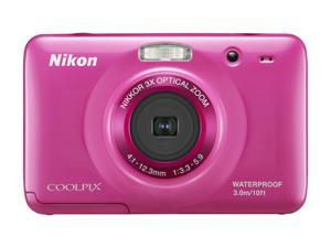"Nikon COOLPIX S30 Pink 10.1 MP 2.7"" 230K Action Camera"