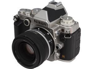 Nikon Df 1528 Silver 16.2 MP Digital SLR Camera with 50mm f/1.8 Lens
