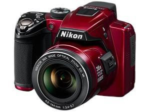 Nikon COOLPIX P500 32002B Red 12.1 MP Digital Camera HDTV Output