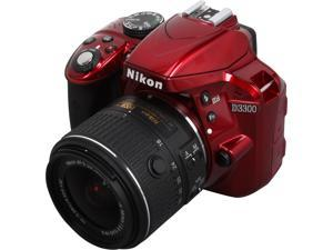 Nikon D3300 1533 Red 24.2 MP Digital SLR Camera with 18-55mm VR Lens