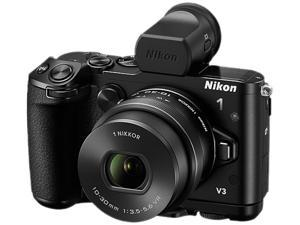 "Nikon 1 V3 27695 Black 18.4MP 3.0"" 1037K LCD Mirrorless Digital Camera with 10-30mm Lens"