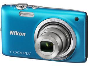 Nikon COOLPIX S2700 32168 Blue 16MP 6X Optical Zoom 26mm Wide Angle Digital Camera