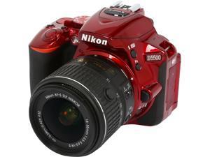 Nikon D5500 1547 Red 24.2 MP Digital SLR Camera with 18-55mm VR II Lens