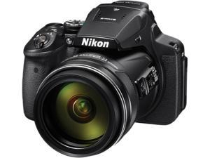 Nikon COOLPIX P900 Black 16.0 MP 83X Optical Zoom 24mm Wide Angle Digital Camera HDTV Output