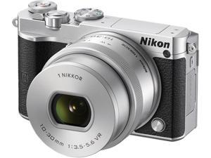 "Nikon 1 J5 27709 Silver 20.8 MP 3.0"" 1037K Touch LCD Mirrorless Digital Camera with 10-30mm Lens"