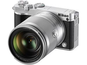 "Nikon 1 J5 27711 Silver 20.8 MP 3.0"" 1037K Touch LCD Mirrorless Digital Camera with 10-100mm Lens"