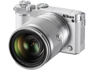 "Nikon 1 J5 27710 White 20.8 MP 3.0"" 1037K Touch LCD Mirrorless Digital Camera with 10-100mm Lens"
