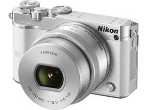 "Nikon 1 J5 27708 White 20.0 - 21.9 MP 3.0"" LCD Mirrorless Digital Camera"