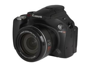 Canon PowerShot SX40 HS 5251B001 Black 12.1 MP 24mm Wide Angle Digital Camera