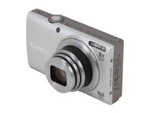 Canon PowerShot A4000 IS Silver 16.0 MP 28mm Wide Angle Digital Camera