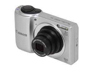 Canon PowerShot A810 6180B001 Silver 16 MP 28mm Wide Angle Digital Camera