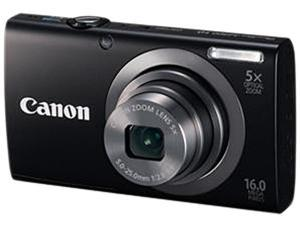 Canon PowerShot A2300 6191B001 Black 16.0 MP 28mm Wide Angle Digital Camera