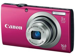 Canon PowerShot A2300 6192B001 Red 16.0 MP 28mm Wide Angle Digital Camera