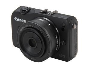 Canon EOS M Black 18 MP Compact Mirrorless System Camera with EF-M 22mm STM Lens
