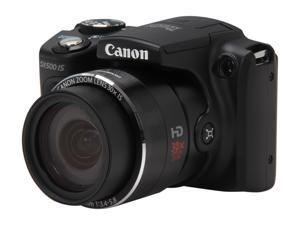 Canon PowerShot SX500 IS 6353B001 Black Approx. 16.0 MP 24mm Wide Angle Digital Camera HDTV Output