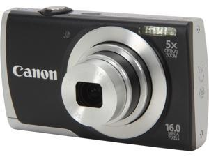 Canon PowerShot A2600 8157B001 Black 16.0 MP 28mm Wide Angle Digital Camera