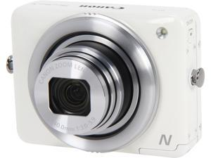 Canon PowerShot N White 12.1 MP 28mm Wide Angle Digital Camera