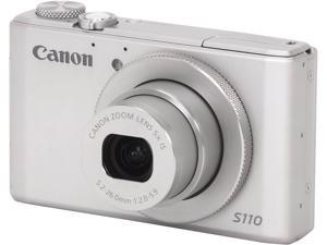 Canon PowerShot S110 6798B001 Silver 12.1 MP 24mm Wide Angle Digital Camera HDTV Output