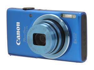Canon PowerShot ELPH 115 IS Blue 16 MP 28mm Wide Angle Digital Camera with Built Case and 8GB SDHC Card Bundle