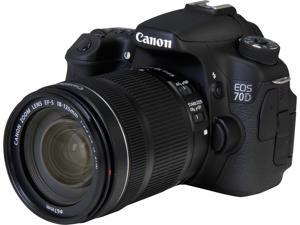 Canon EOS 70D (8469B016) Digital SLR Cameras Black 20.2 MP Digital SLR Camera with 18-135mm STM f/3.5-5.6 Lens