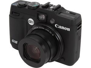 Canon PowerShot G16 Black Approx. 12.1 Megapixels 5X Optical Zoom 28mm Wide Angle Digital Camera