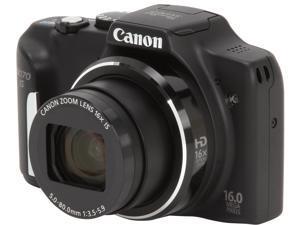 Canon PowerShot SX170 IS Black 16MP 28mm Wide Angle Digital Camera