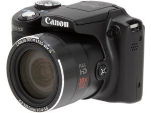 Canon PowerShot SX510 HS Black Approx. 12.1 Megapixels 30X Optical Zoom Wide Angle Digital Camera