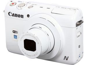 Canon PowerShot N100 White 12.1 MP 5X Optical Zoom 24mm Wide Angle Digital Camera HDTV Output