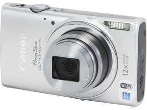 Canon PowerShot ELPH 340 HS Silver 16 MP 12X Optical Zoom 25mm Wide Angle Digital Camera HDTV Output