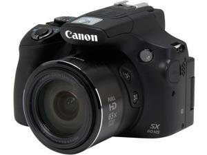 Canon PowerShot SX60 HS Black 16.1 MP 65X Optical Zoom Wide Angle Digital Camera HDTV Output