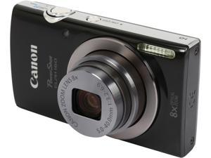 Canon PowerShot ELPH 160 Black 20.0 MP 8X Optical Zoom 28mm Wide Angle Digital Camera