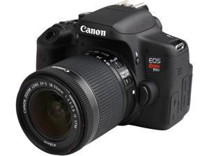 Canon EOS Rebel T6i 0591C003 Black 24.20 MP Digital SLR Camera with EF-S 18-55mm IS STM Lens