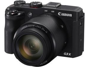 Canon PowerShot G3 X Black 20.2 MP 25X Optical Zoom Waterproof 24mm Wide Angle Digital Camera HDTV Output