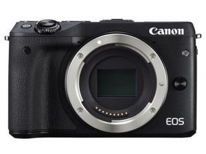 Canon EOS M3 9694B001 Black 24.2 MP Horizontal: 6.2cm, Vertical: 4.2cm LCD Mirrorless Digital Camera (Body only)