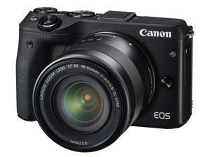 Canon EOS M3 9694B011 Black Mirrorless Digital Camera with 18-55mm Lens