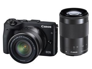 Canon EOS M3 9694B031 Black Mirrorless Digital Camera with 18-55mm and 55-200mm Lenses