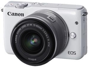 Canon EOS M10 0922C011 Mirrorless Digital Camera with 15-45mm Lens White