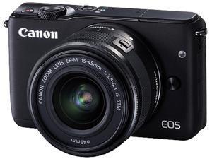 Canon EOS M10 0584C011 Mirrorless Digital Camera with 15-45mm Lens Black
